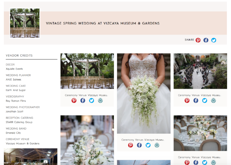 "Check out our recent wedding feature on ""Style Me Pretty."""