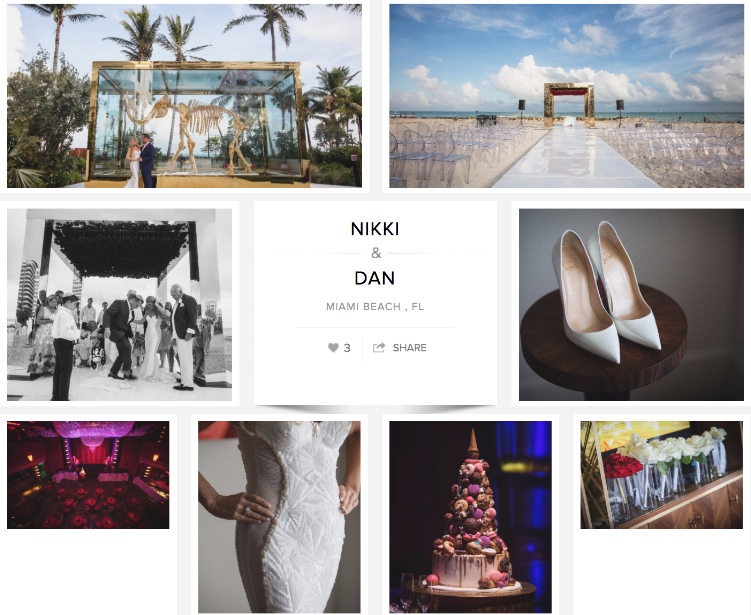 "Check out Nikki and Dan's wedding on ""Carats & Cake."""