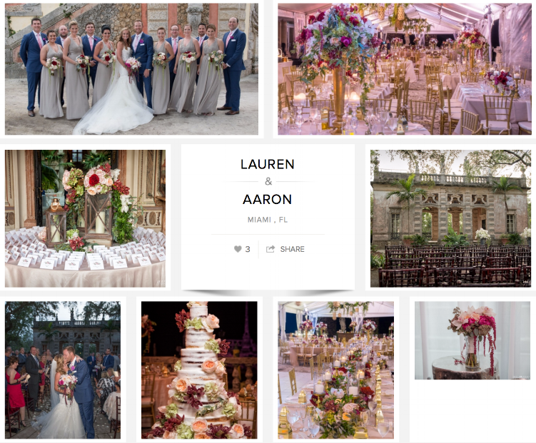 "Check out Lauren and Aaron's wedding on ""Carats & Cake."""