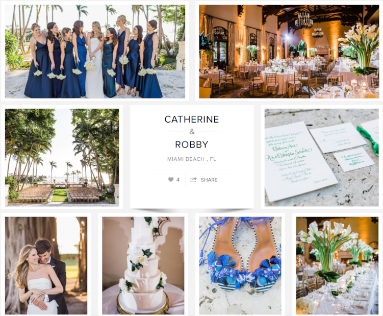 "Check out Catherine & Robby's wedding on ""Carats & Cake."""