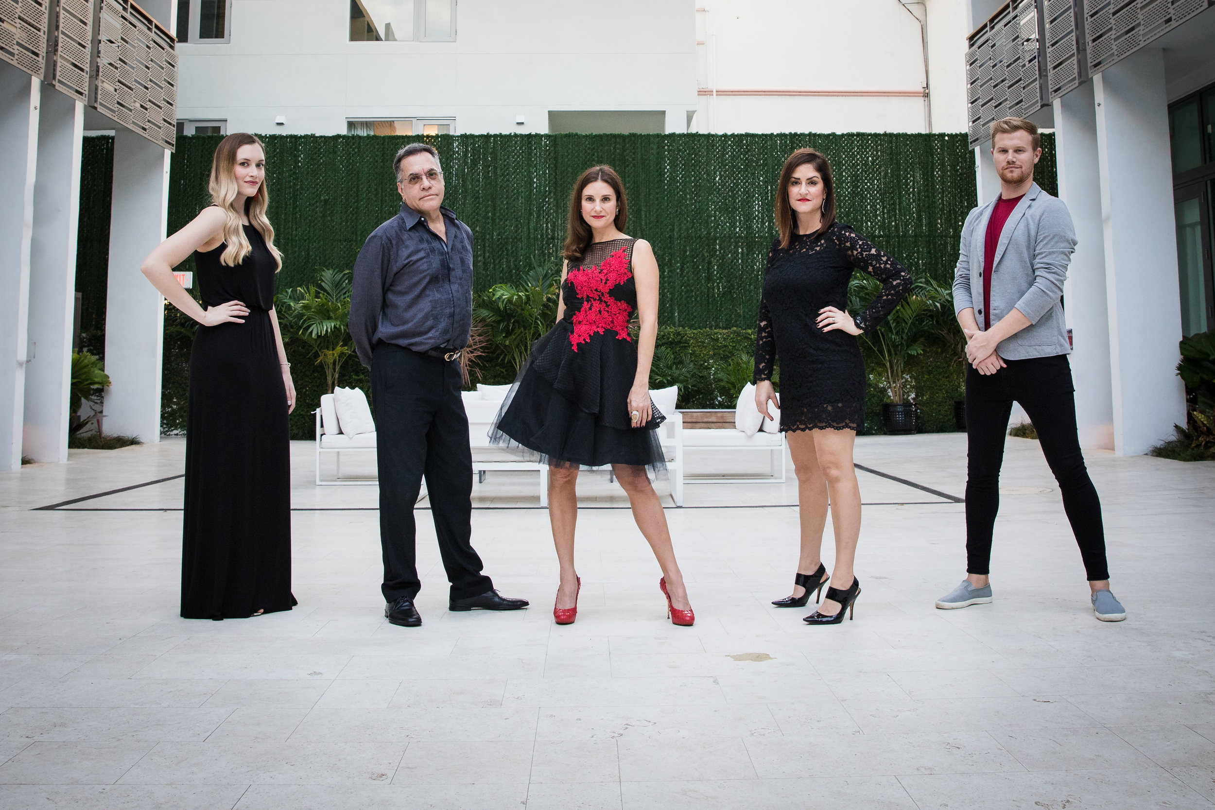 Left to Right: Valerie Nygren, Gilbert Valdivia, Andi Dyal, Carlyn Gilbert and Devin Seckfort.