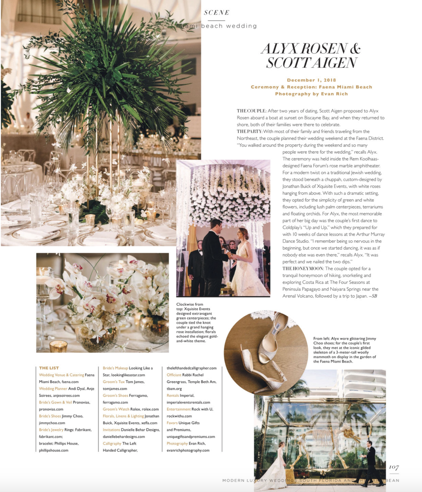 Alyx & Scott's wedding was featured in Modern Luxury Weddings. Check it out!