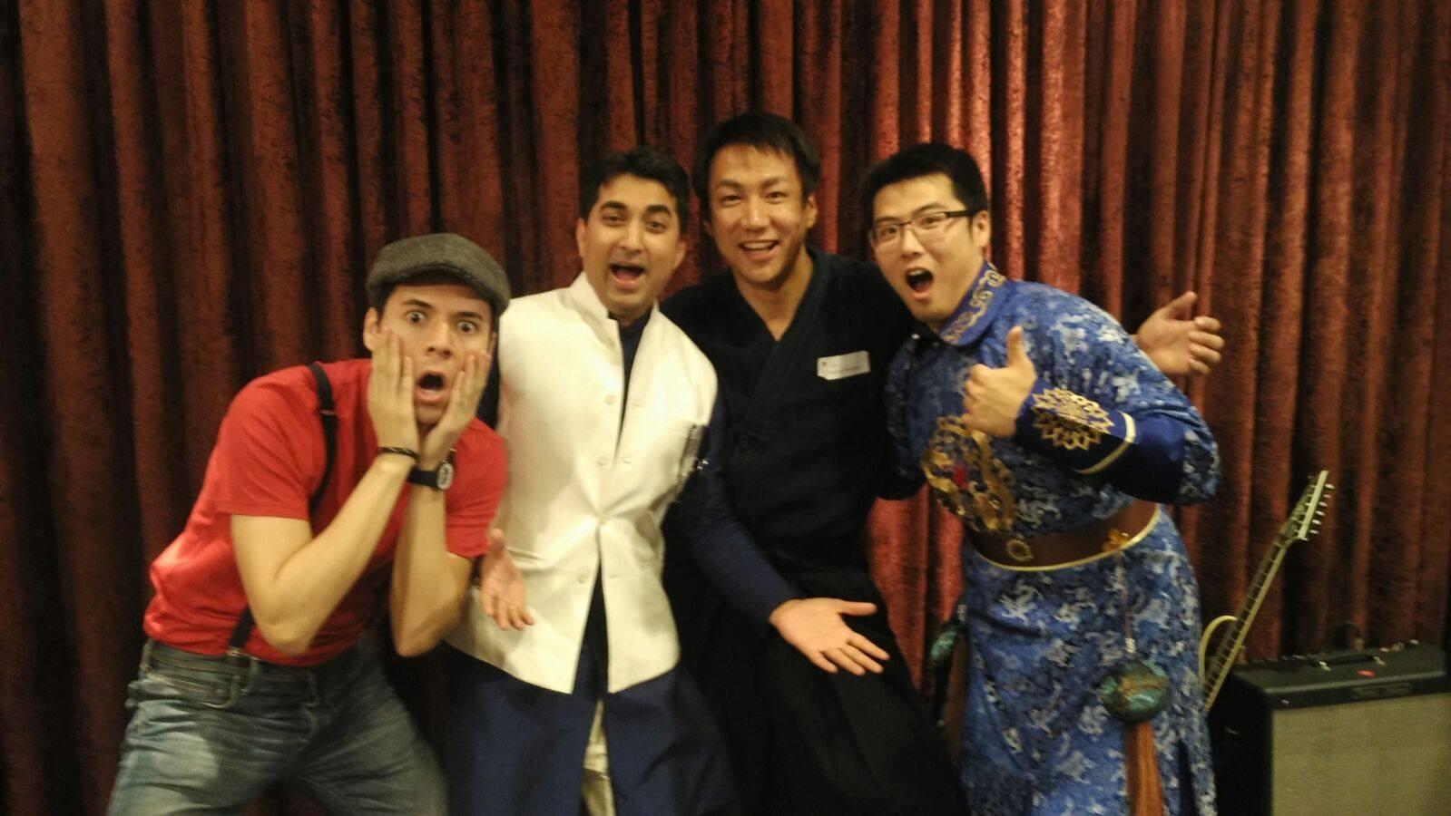 Zen and his flatmates.