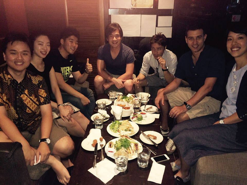 Friday night – happy hour on campus. Left to right: Alvin, Seulhae, SeungMin, Patrick, Giuseppe, Matteo, Phebe.