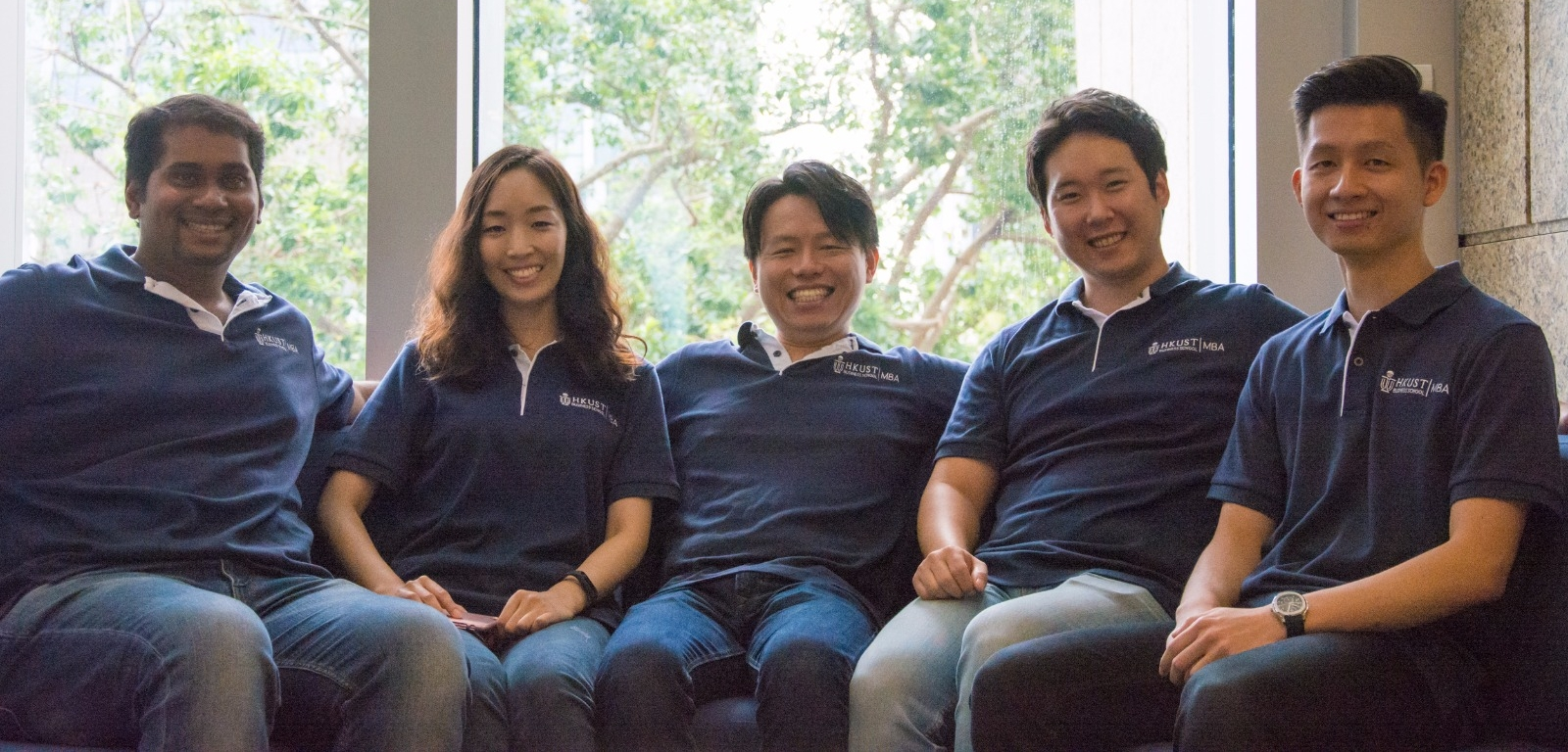 Left to Right : Ryodan Pereira (VP-Mktg.), Hyejin Lee (VP- Software Services), Yoshiaki Imanishi (El Presidente !), Eric Oh (VP-Hardware Services), William Nagata (CFO)