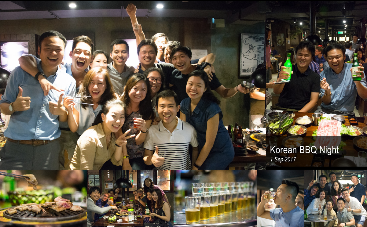 We began modestly with a casual Korean BBQ night - with samgyeopsal, soju, and some explosive soju bomb performances!!