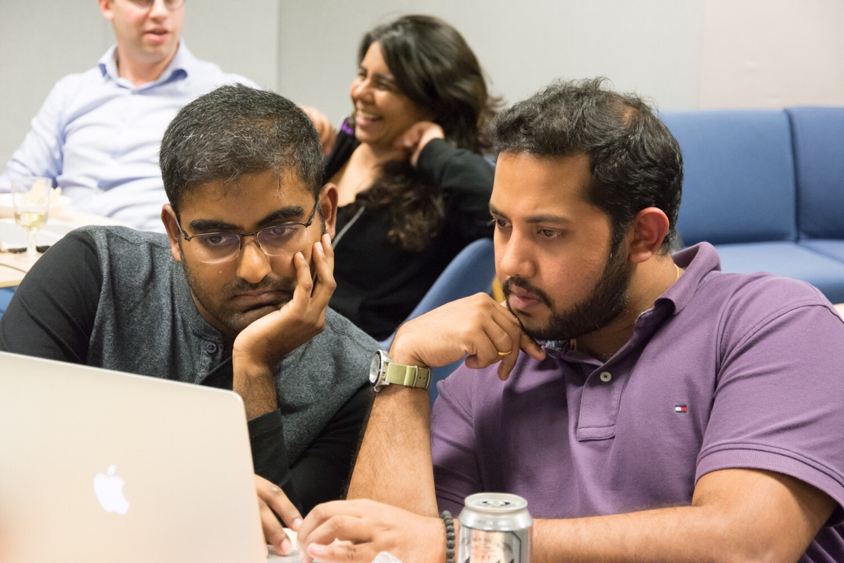 Akhil and Anuraag thinking hard about their next move