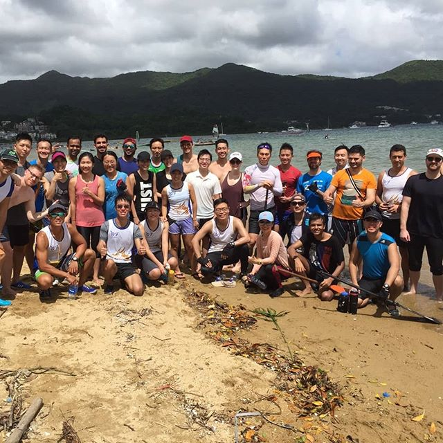 MBAAA Dragon Boat opening day last year in September with the perfect weather! 🌦  #mUSThaveMBA #HKUSTDragonboat #MBAAAdragonboat #hkustmba #mbaft #mbapt