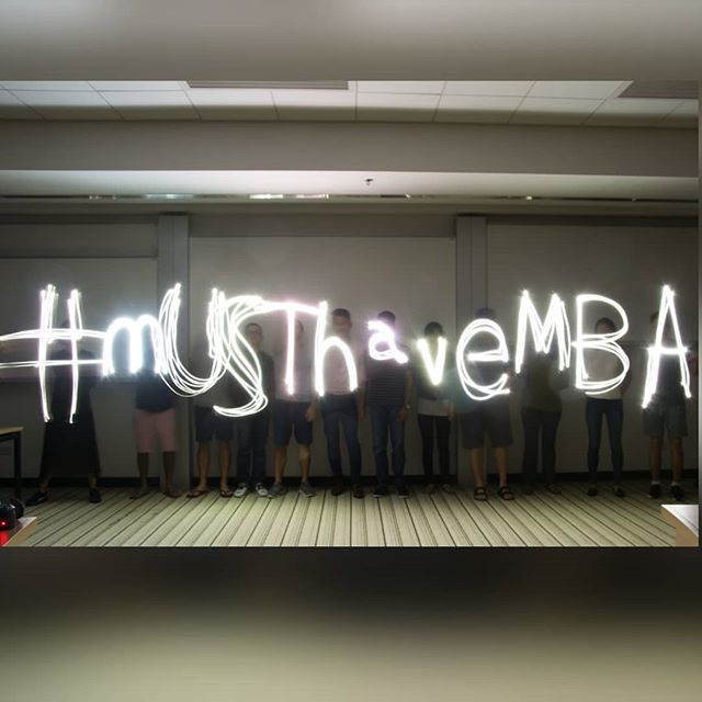 From Auto to Manual session by Photography club on 19 Step 2017... We learnt how to make light painting by taking a long exposure shot 😎📸 #mUSThaveMBA #Studentclub #hkustmba #intake2017 #tb #throwback