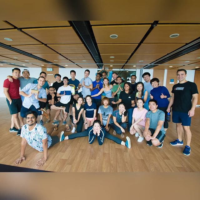 Stretch and Strength training with Health Care club on 4-Oct-17, leading Yoga session by @dianadanli  After the session, i think we have one new Yoga master @harshmody22  #Studentclub #mUSThaveMBA #HKUSTMBA #hkustmbastudentclub #mbalife #intake2017