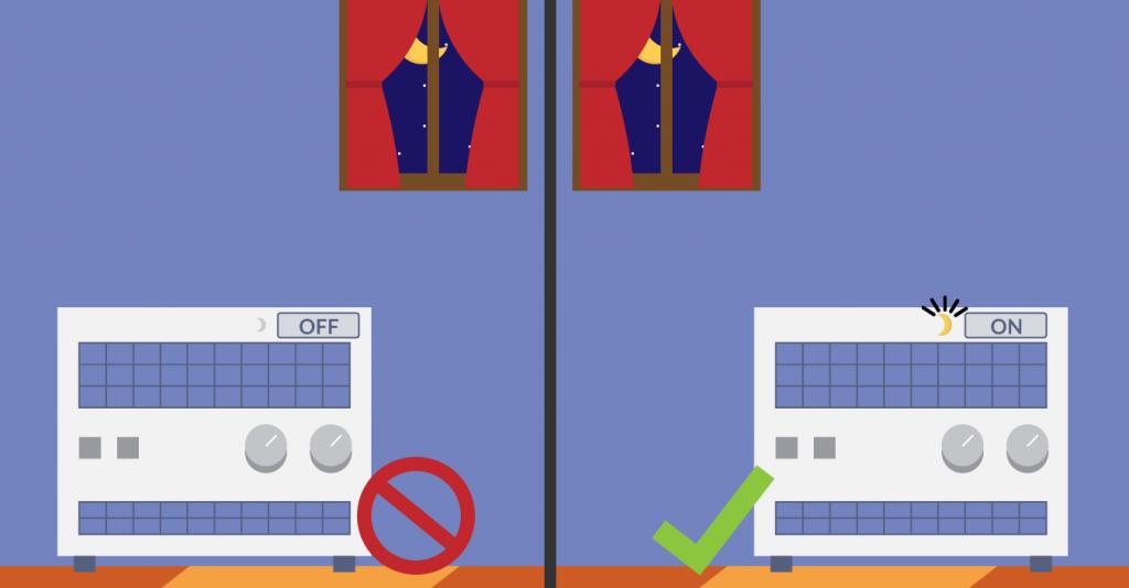 Préférez le mode nuit à l'arrêt total de votre chauffage