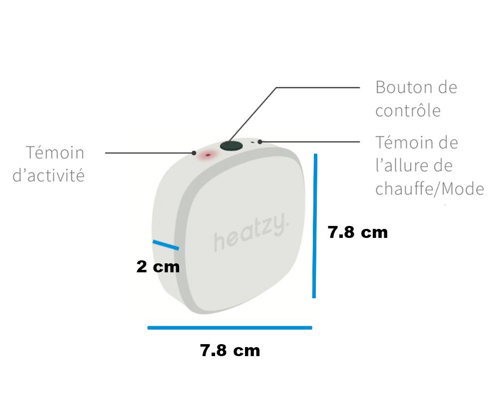 Heatzy Pilote dimensions