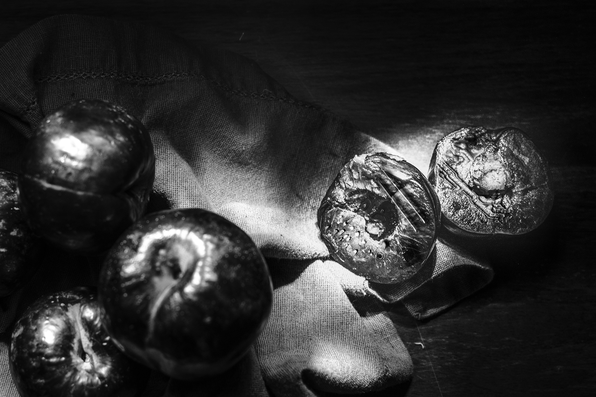 Still Life with Genetically Modified Plums