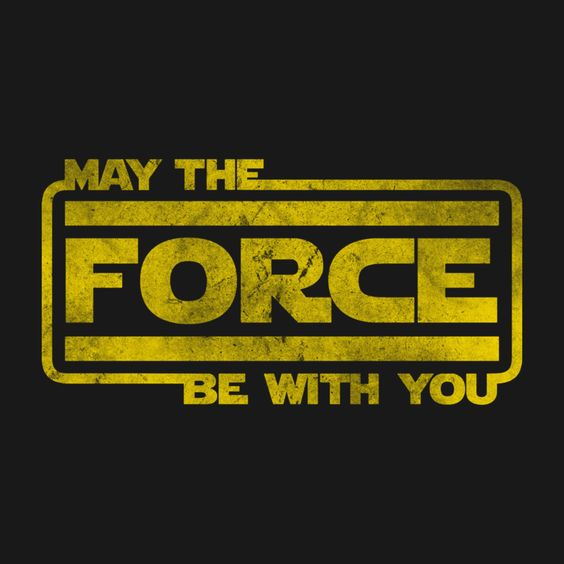 Credit: https://www.teepublic.com/t-shirt/78620-may-the-force-be-with-you