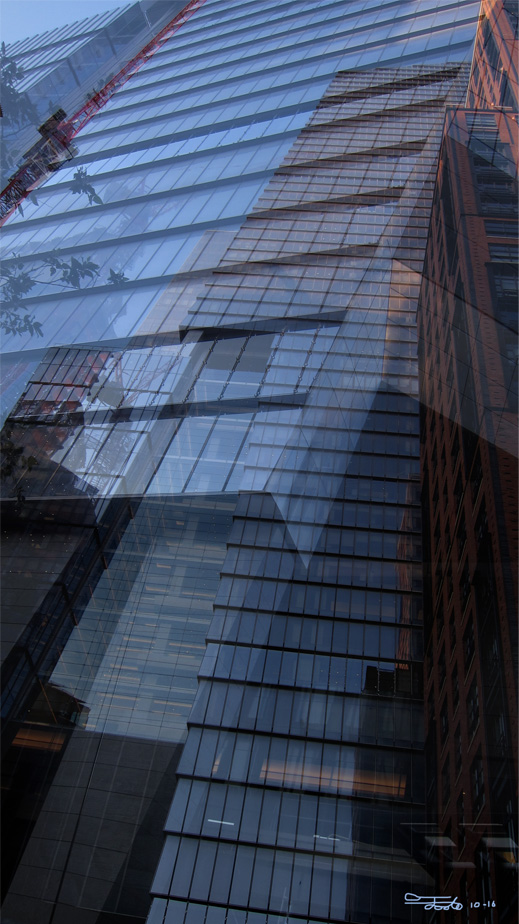 """Skyscraper Shadows."" - Photo Overlay. 2016."