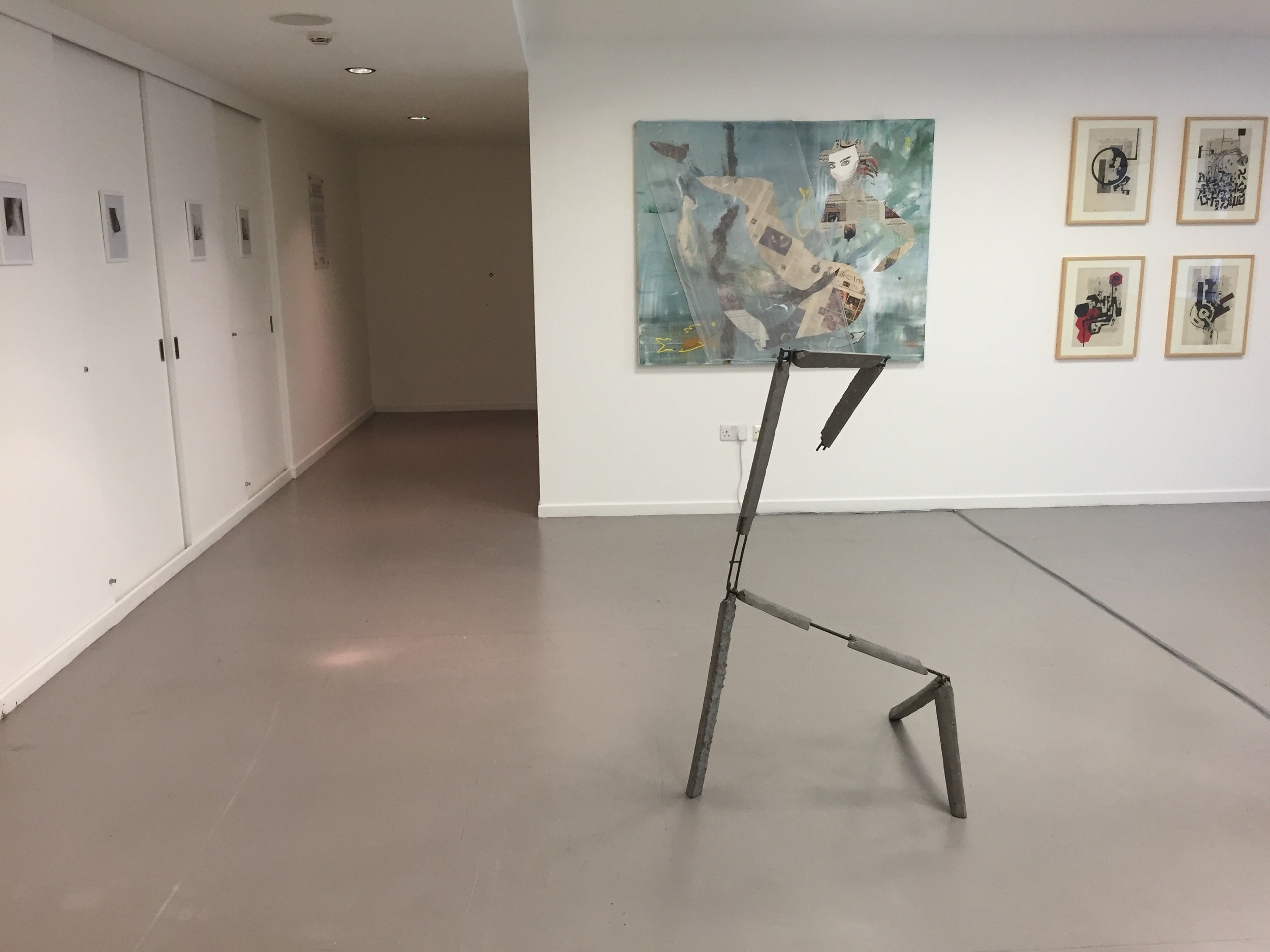 """Entrance view of the """"In Between"""" Show at Saatchi Gallery June 2014"""