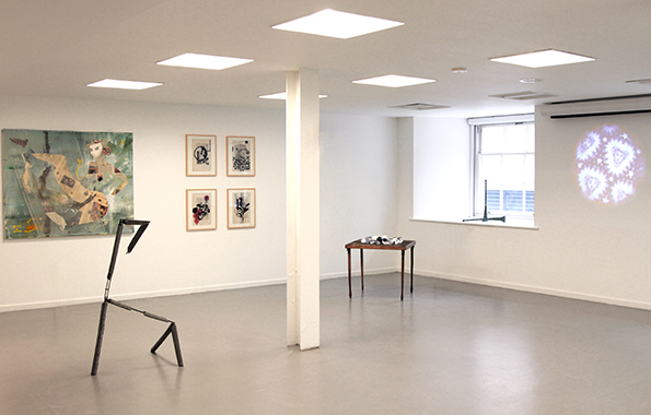 """Education Room view of the """"In Between"""" Show at Saatchi Gallery June 2014"""