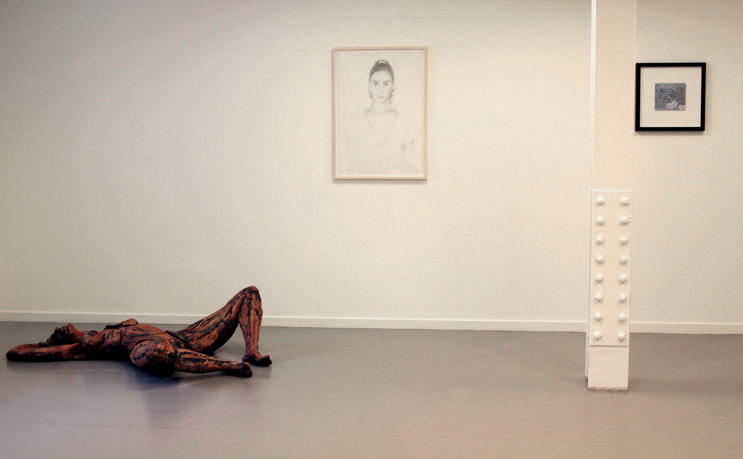 """Partial View of the """"In Between"""" Show at Saatchi Gallery June 2014"""