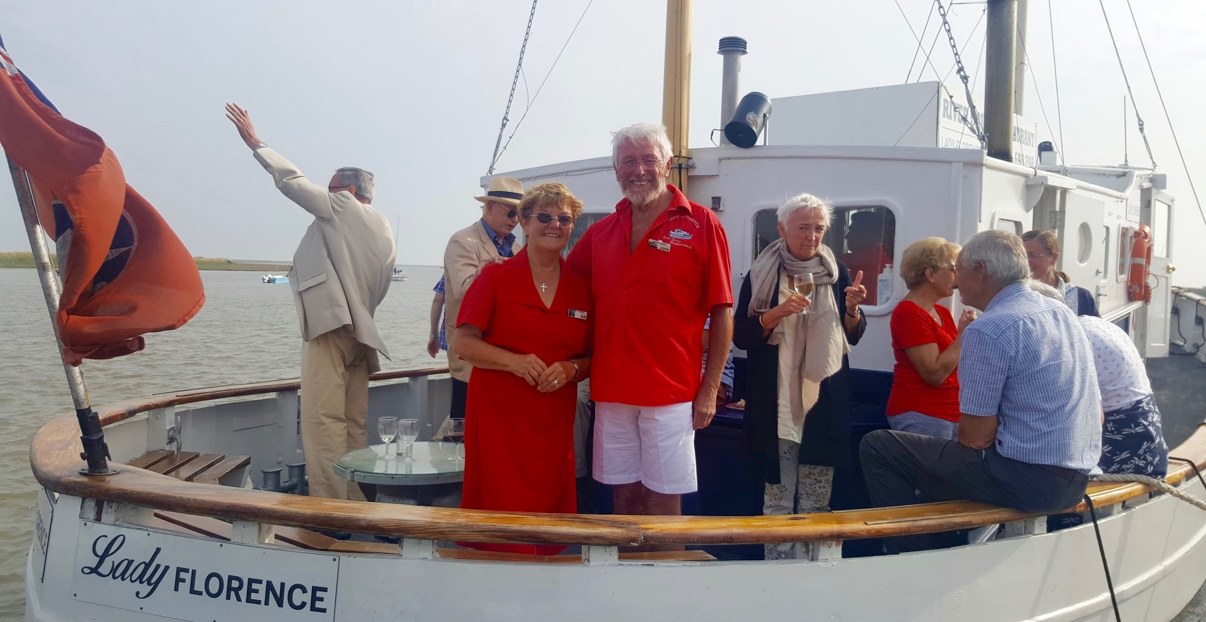 John and Susan Haresnape, celebrate twenty-five years on the water!