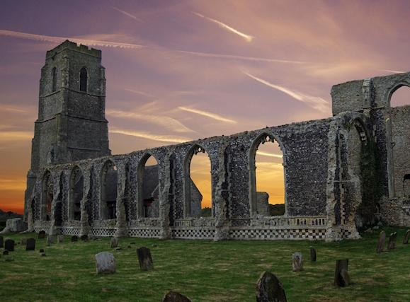 Covehithe at dusk! - Covehithe's ethereal church-within-a-church