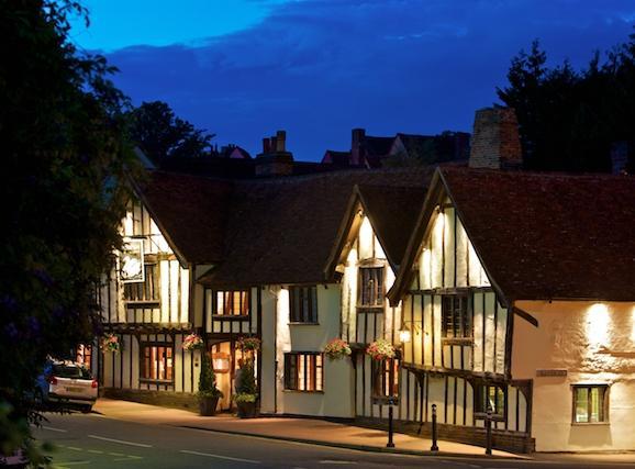 Lavenham at night - Medieval Lavenham glows romantically by night
