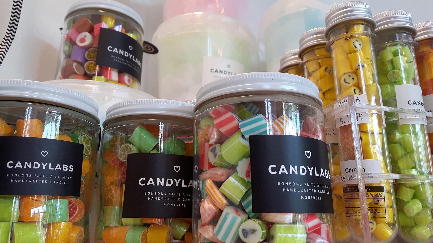 Candy labs, bonbons artisanaux, faits à la main, sans gluten, sans allergène.
