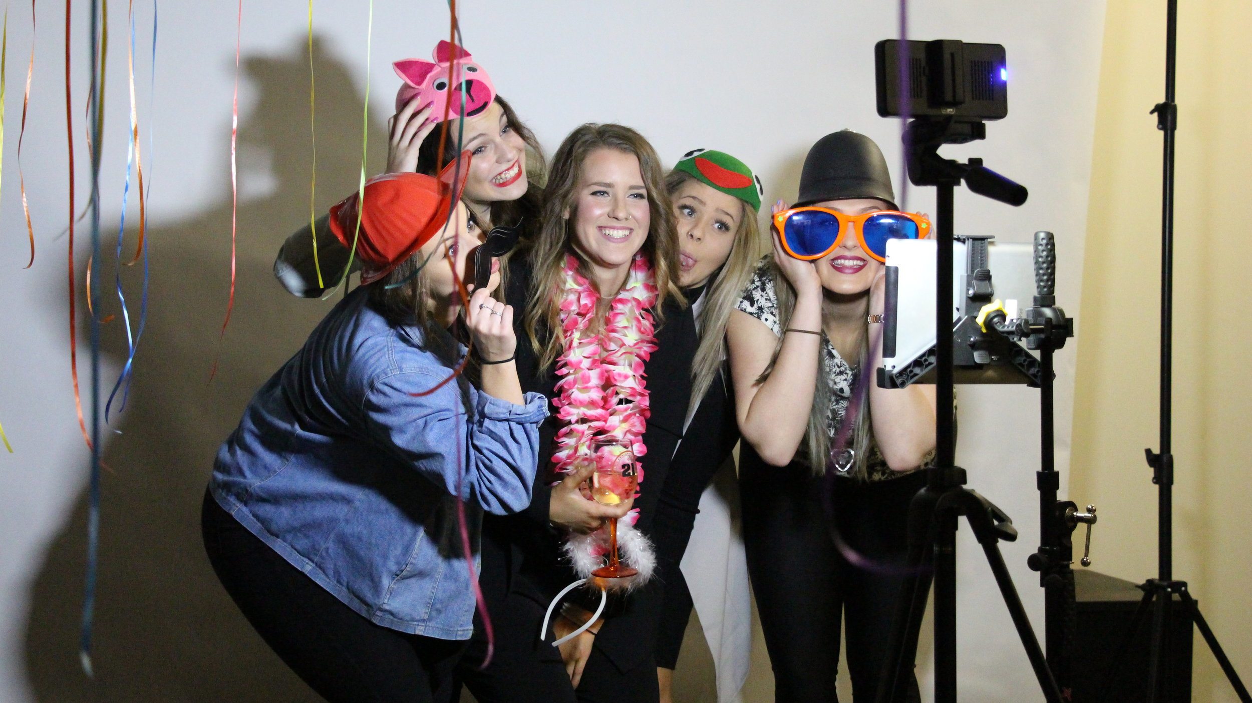 Photo Booth - MBE's Photobooth service is a popular addition to any event - from Weddings to 1st birthdays, the Photobooth acts as a great ice breaker and additional activity to an event for guests to have a laugh, meet some new people and take a memory (Photobooth strip) home with them. Booth includes staff members, personalised logo, guest book, props and more