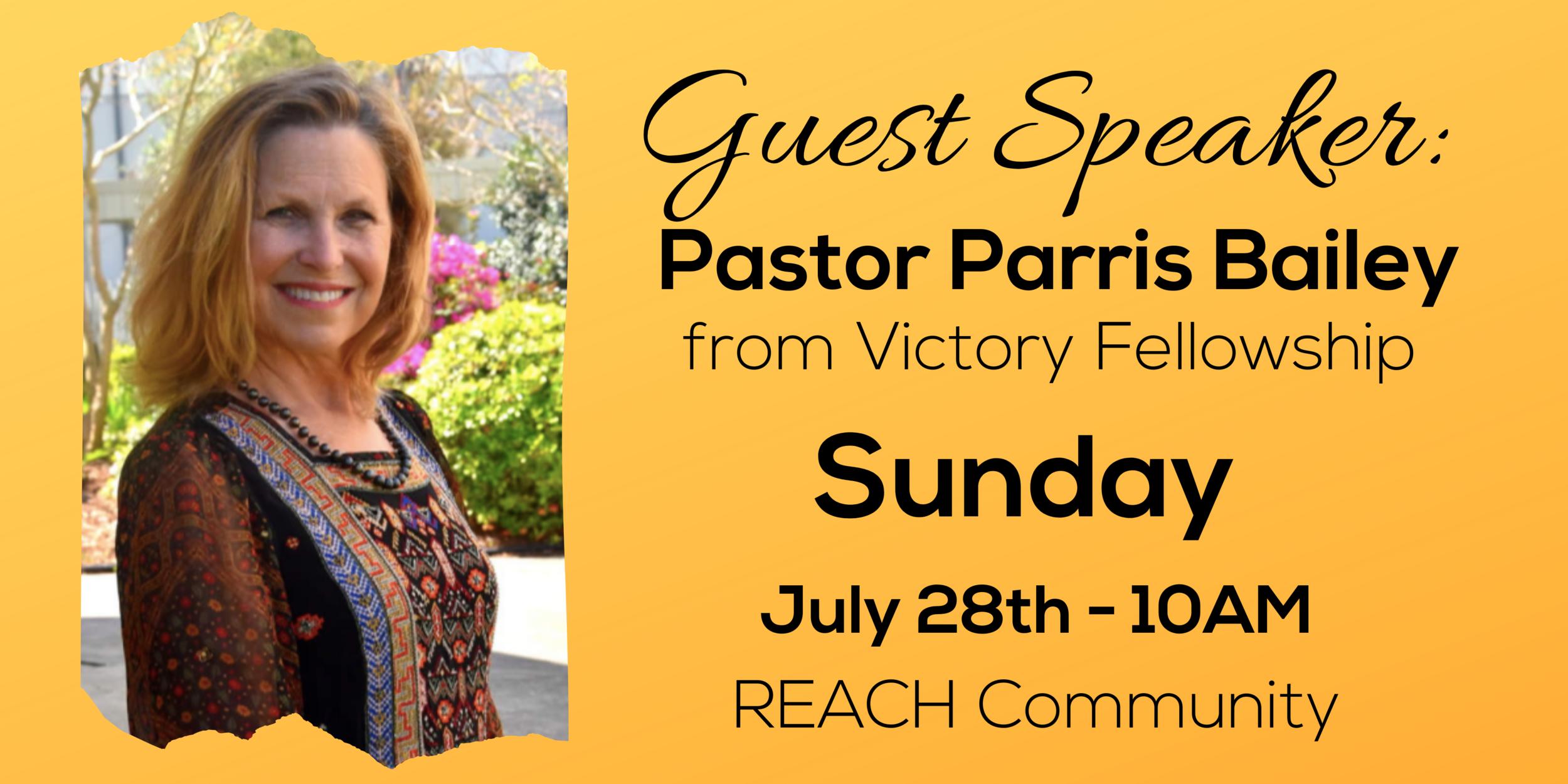 REACH Community in Covington Louisiana Guest Speaker Pastor Parris Bailey
