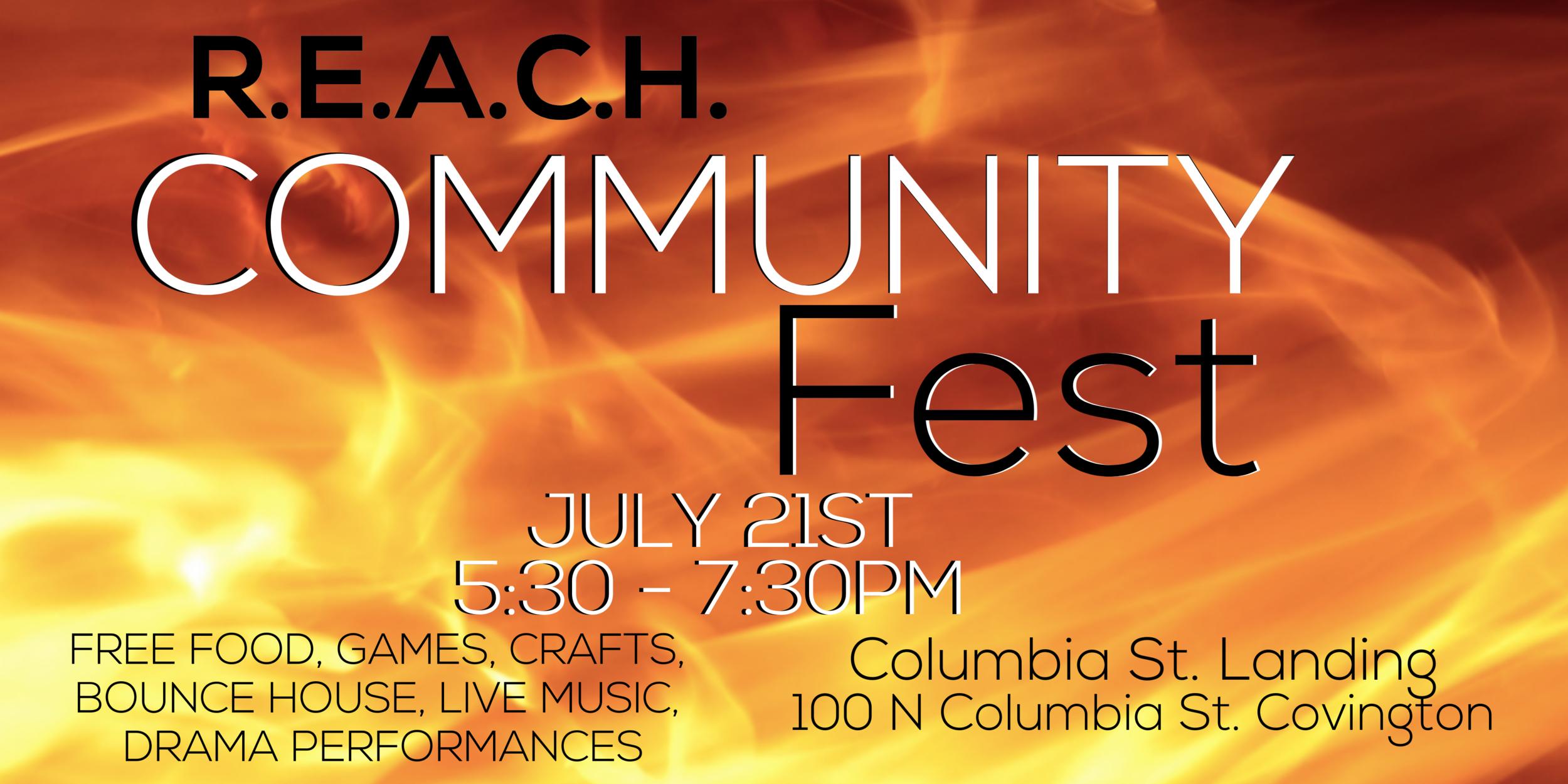 Free Food Fest with live Music July 21 2019 Columbia St Landing Covington LA
