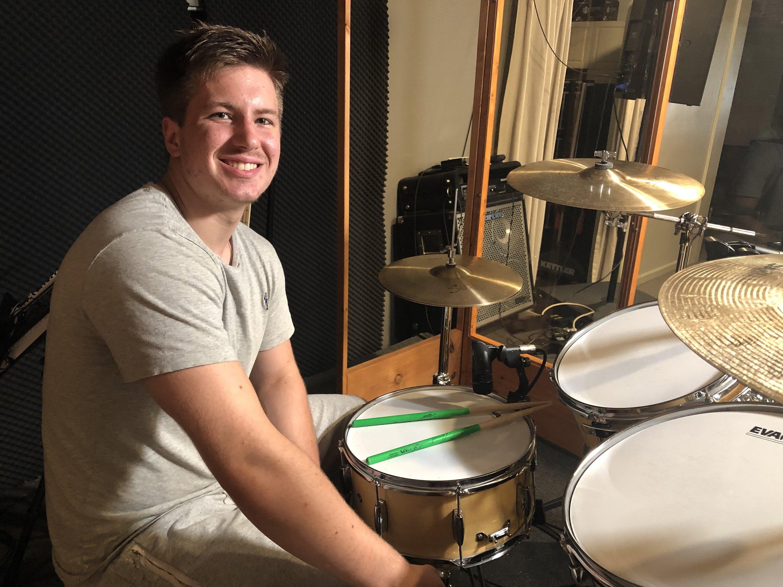 James - Drums student teacher