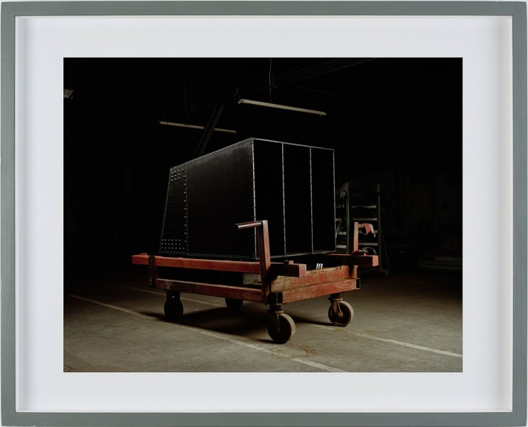 Red Trolley , 2008  Steel Sculpture and C-Type Print