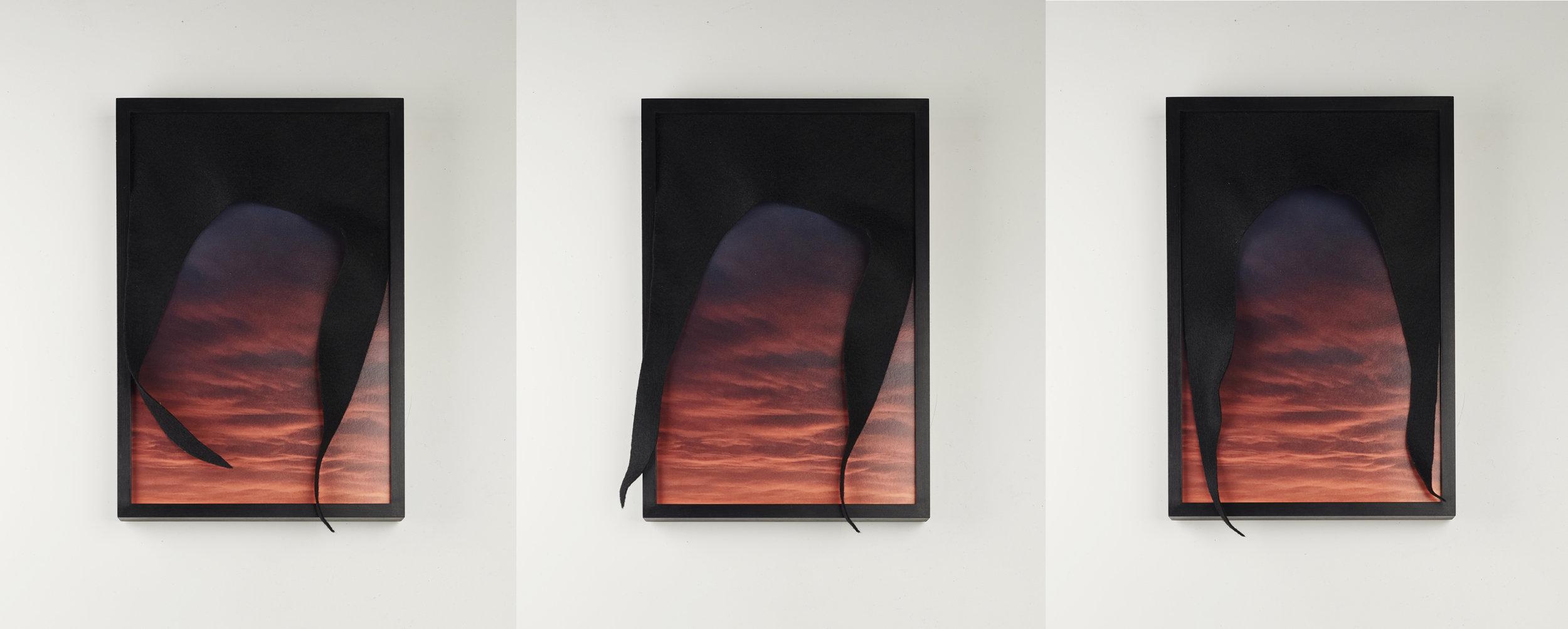 Untitled, Drape No.4  Triptych  2019