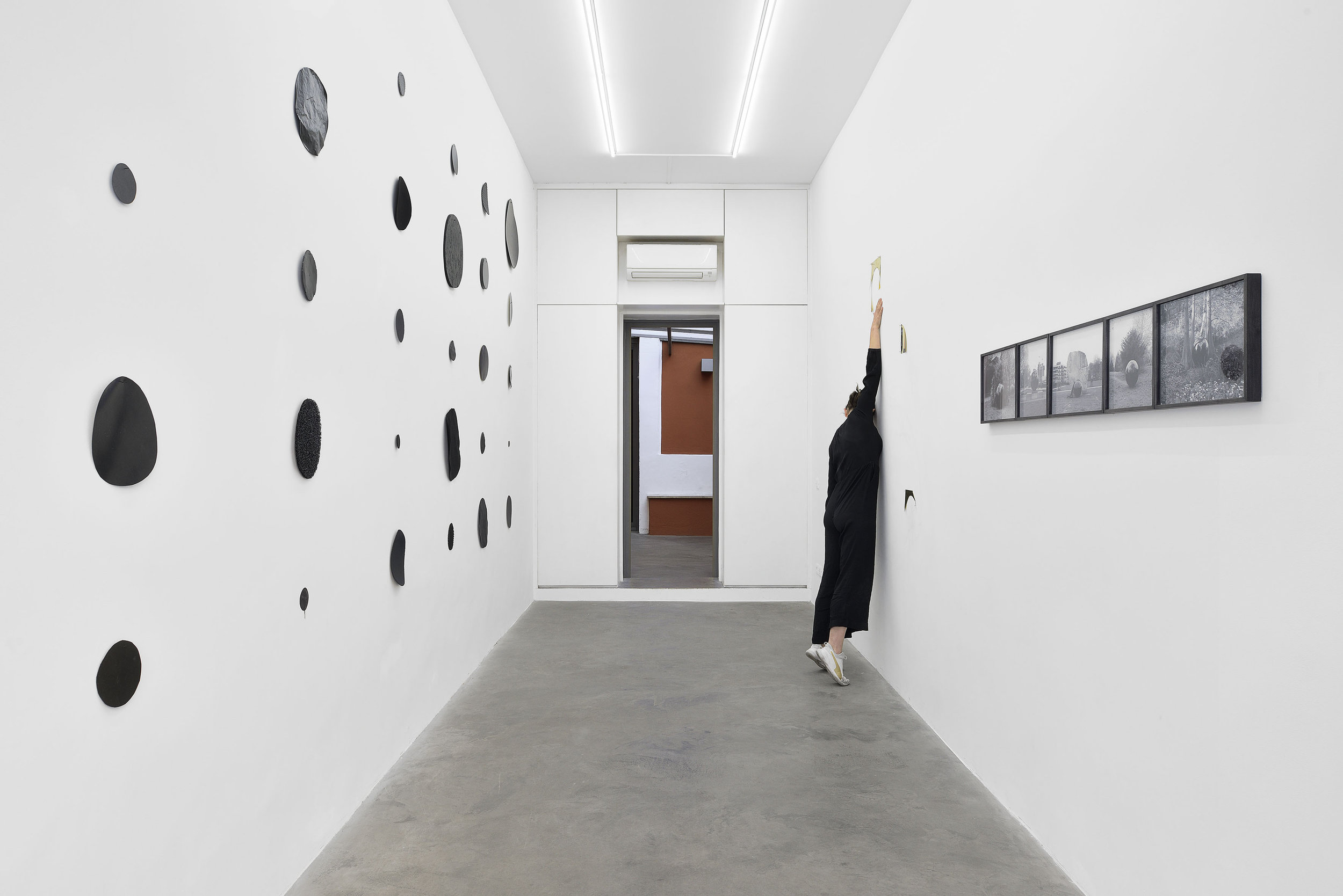 Present Tense, Materia Gallery, Rome, 2019  Installation view. Performance in collaboration with Typhaine Delaup