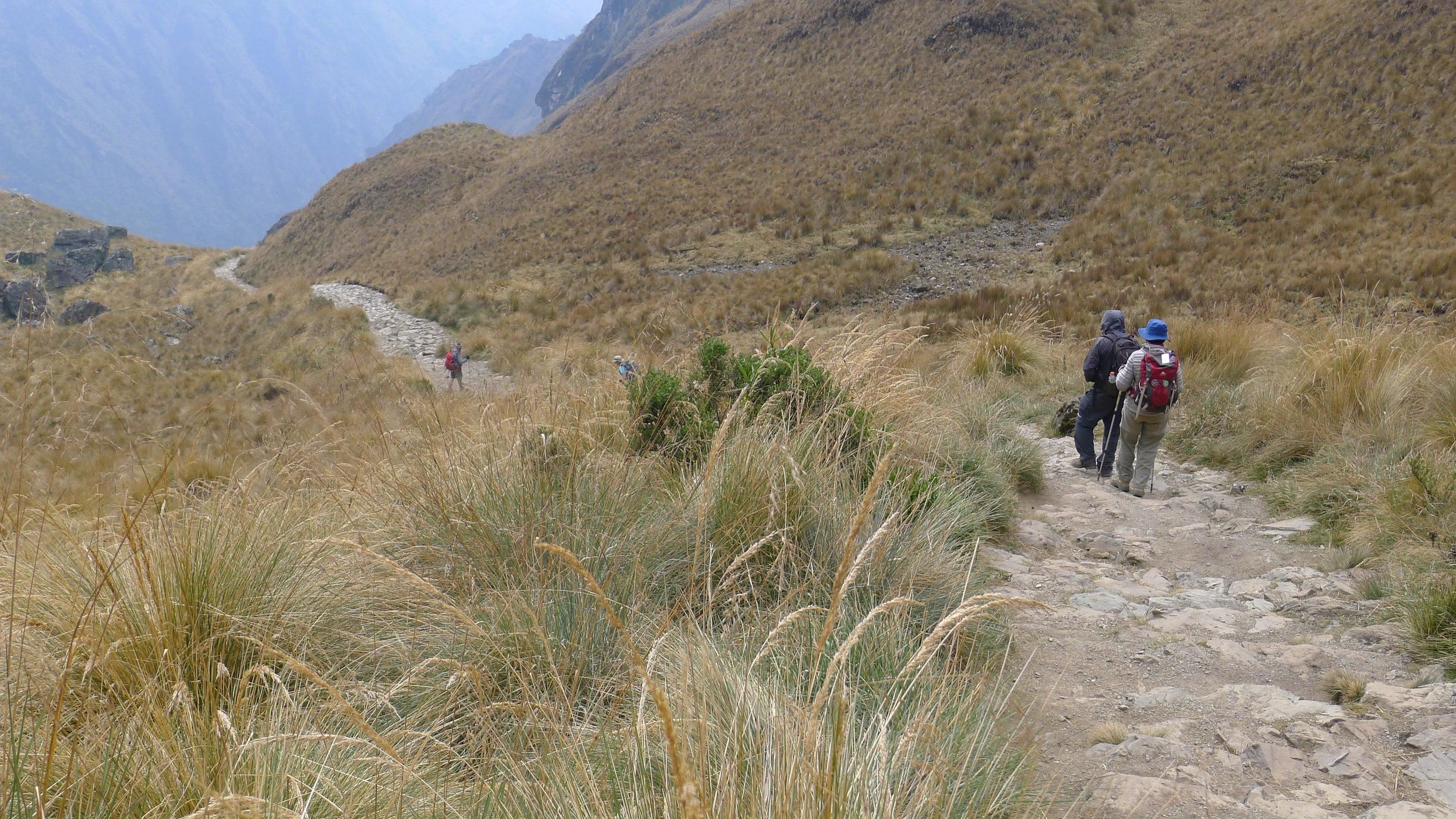 Hiking Along The Inca Trail