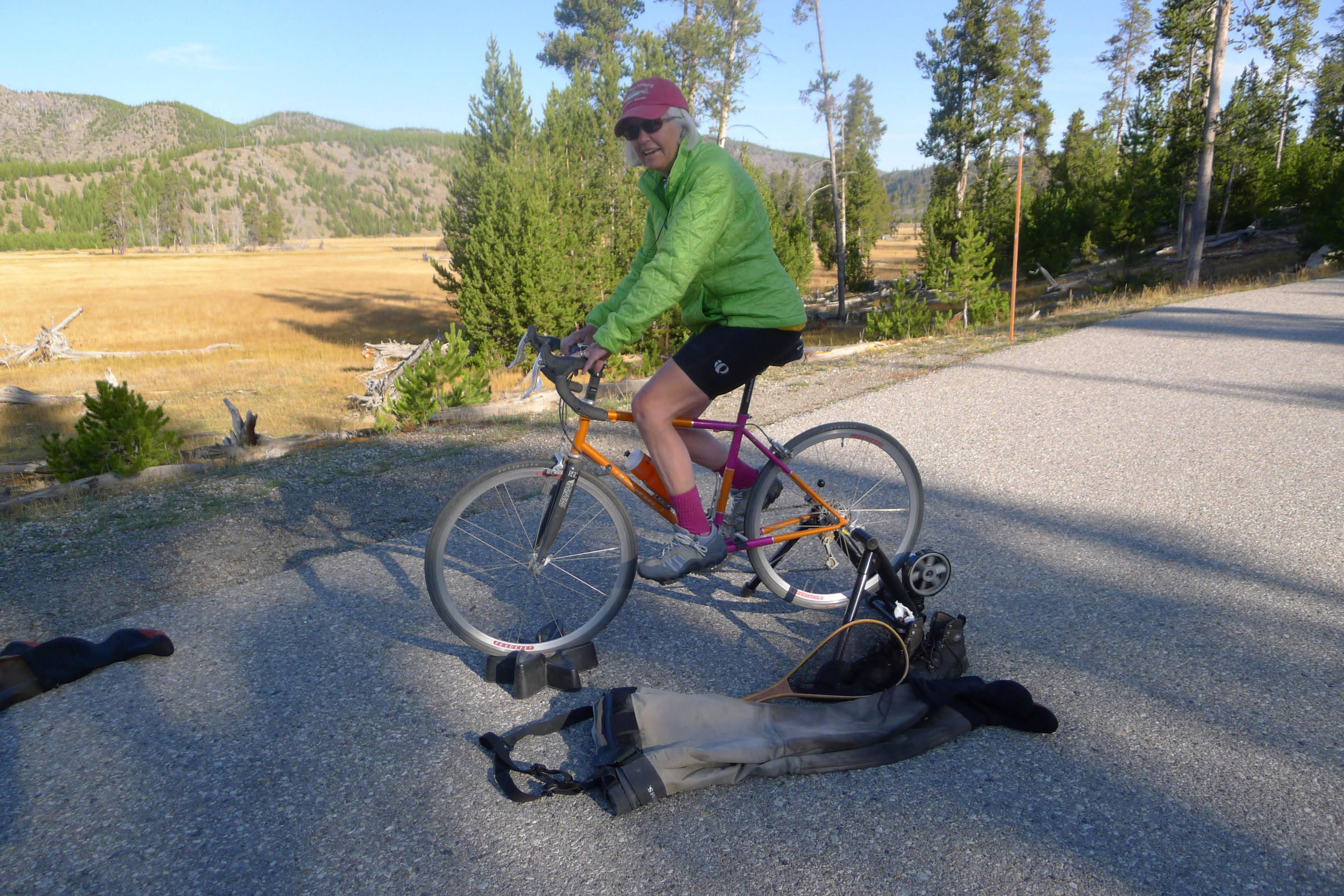 Stationary Pedaling In Yellowstone