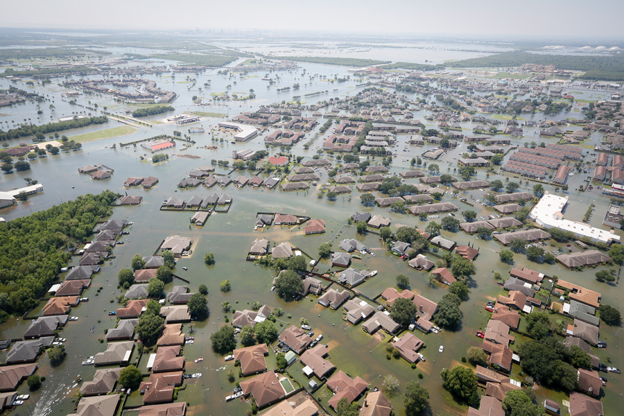 Port Arthur, Texas on August 31, 2017 after Hurricane Harvey. Courtesy SC National Guard/Wikipedia
