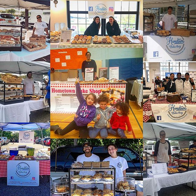 It started with a Market and a dream!  Farmers markets are where it all began.  First market was me with my girls as support. Every year my amazing staff and family pack up the van and travel across LI to spread the Hometown way.  TOMORROW we head back to one of my Originals, Roslyn!! They have supported and stood by Hometown for fourth year!  So excited to be back there tomorrow!  Come say Hi and get ready for another year of food made with love. #hometownbakeshop #farmersmarket #roslyn #support #food #family #love #foodie #foodofinstagram #pie #loveofpie #dream #goals #smallbusiness