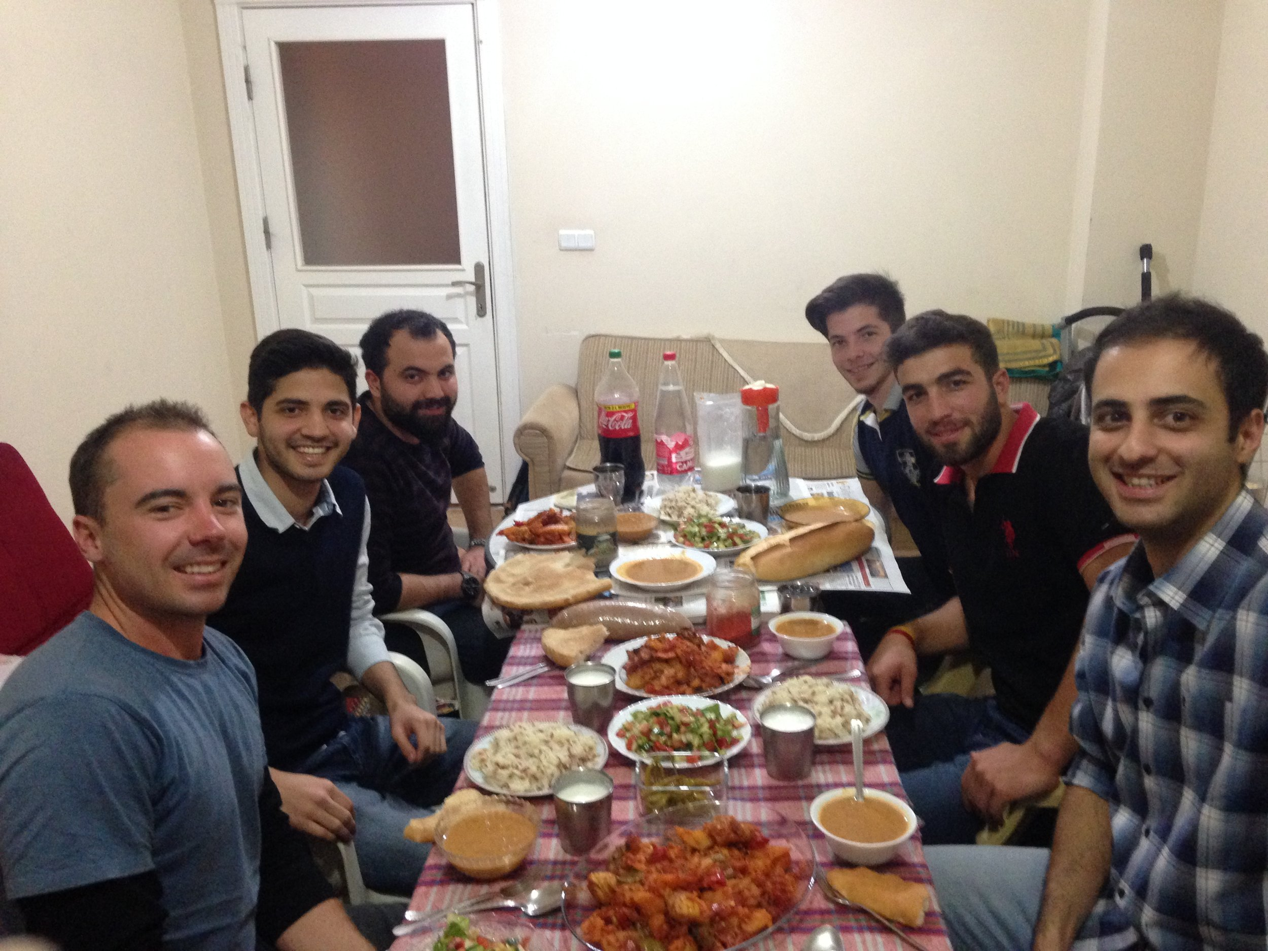 An epic feast with our couch surfing hosts in Ardahan. every cyclists dream