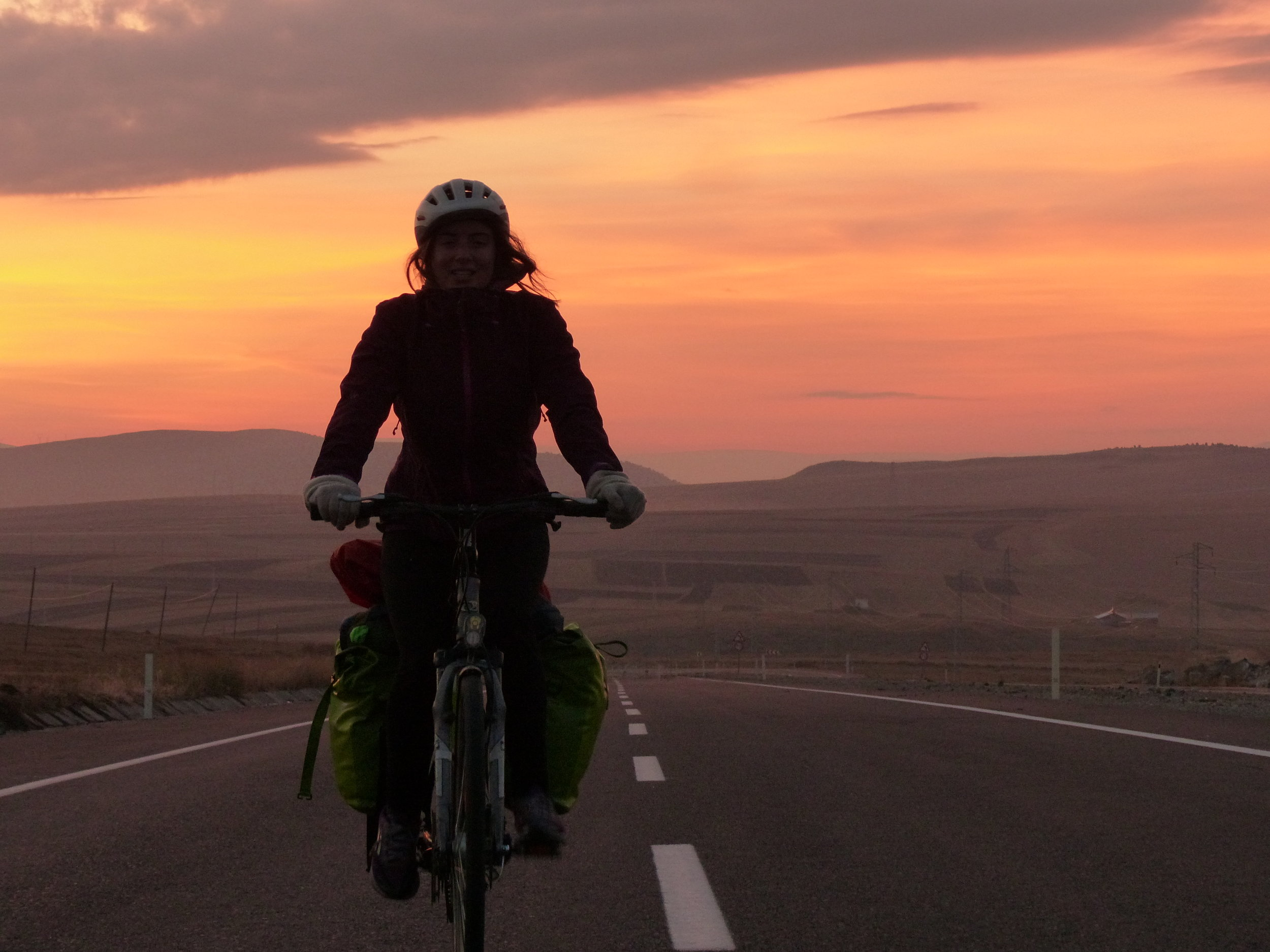 Our final night cycling in Turkey, the perfect farewell.