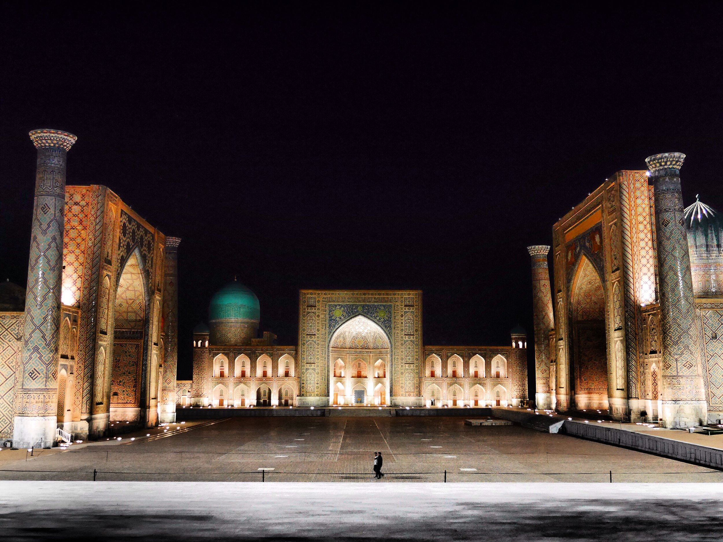 The Registan square in the heart of Samarkand.