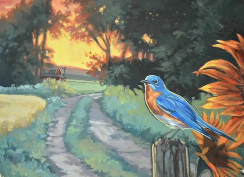Bluebird Sunrise