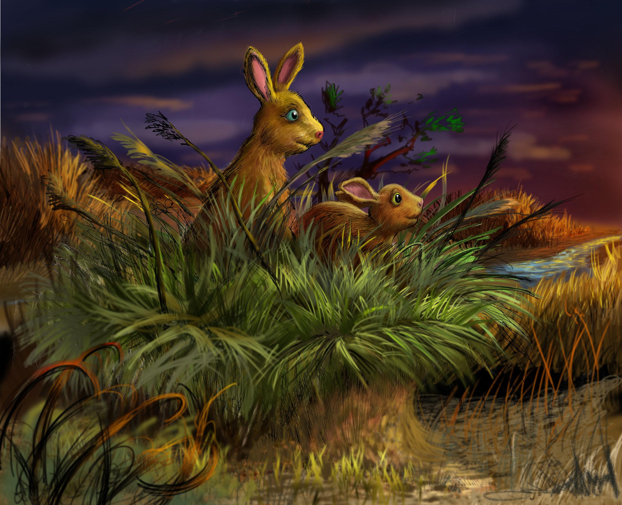 Rabbits - First painting - digital.jpg