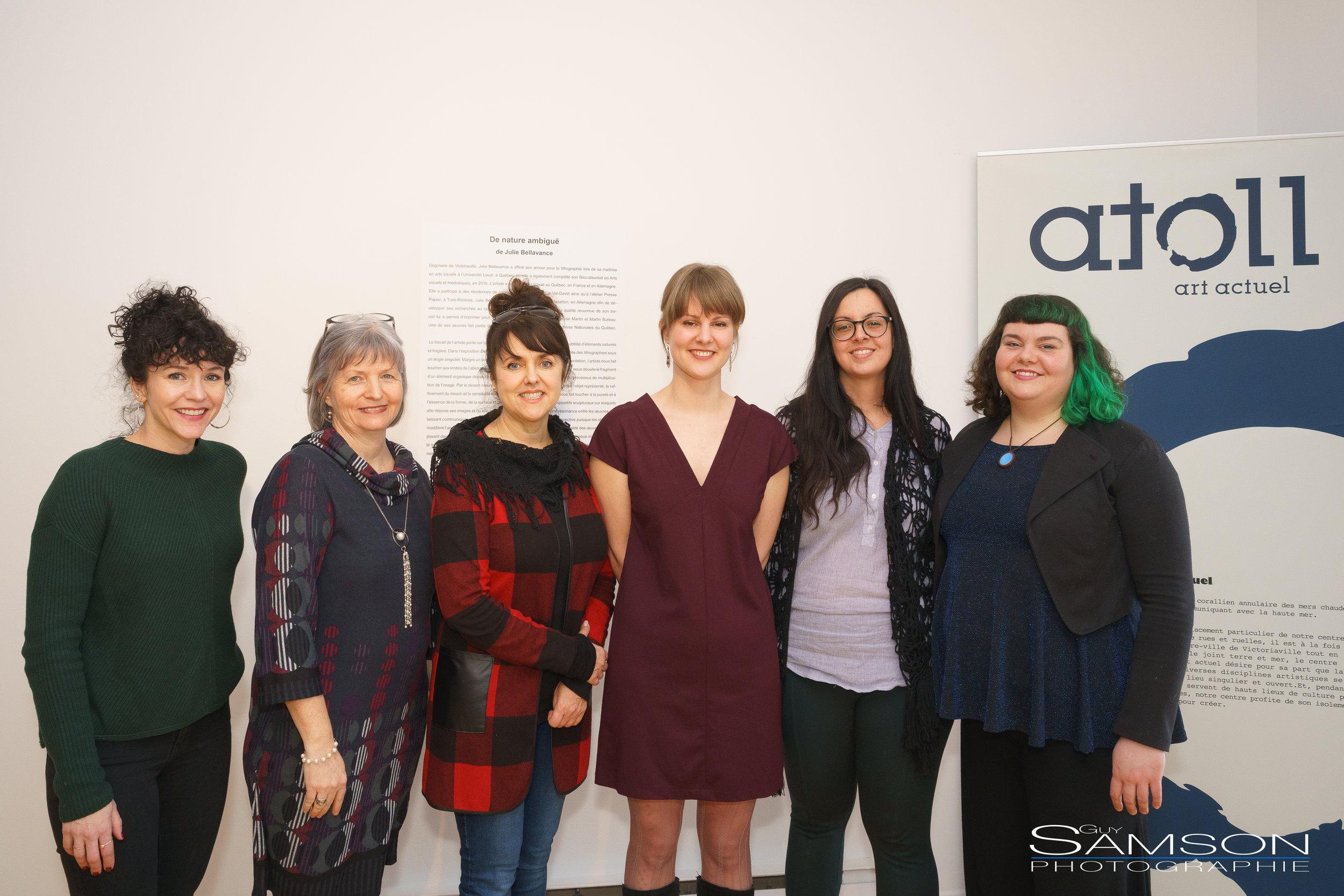 AvecAndrée-Anne Laberge,Danielle LeBlanc, Sophie Lambert,Julie Bellavance,Laurelou Helie etAnne-Sophie Zoé Gendron