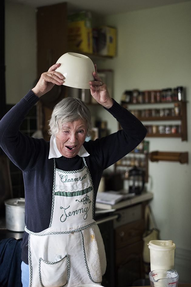 CHAINSAW JENNY   LIVES: Weston, Uk  BORN: Angers, 1941  MOTHER TONGUE: English  GRANDCHILDREN: Millie, Oscar, Cecilie, Ottilie  THEY CALL HER: Granny   COOKING: Queen Of Puddings