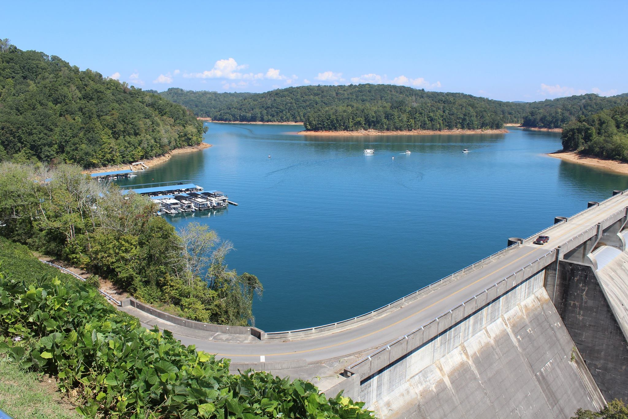 NORRIS DAM STATE PARK   Rocky Top, TN  Construction of Norris Dam began in 1933 as the first project by the Tennessee Valley Authority, a Great Depression-era entity created by the federal government to control flooding and bring electricity and economic development to the Tennessee Valley.