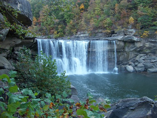 """Cumberland Falls 7351 Hwy 90, Corbin, KY 40701 (606) 528-4121 Known as the """"Niagara of the South,"""" our most visited wonder, Cumberland Falls, is a 125 feet wide waterfall which plunges into a scenic, boulder strewn gorge. Imagine standing on a cliff, just feet from where the Cumberland River pours over a 90 feet drop; while standing on a platform at the base of the falls, crashing water sprinkles your face with a fine mist; and from the Eagle Falls Trail, overlooks high in the mountains provide breathtaking views and incomparable photo opportunities. Nonprofit Member  http://parks.ky.gov/parks/resortparks/cumberland-falls/"""