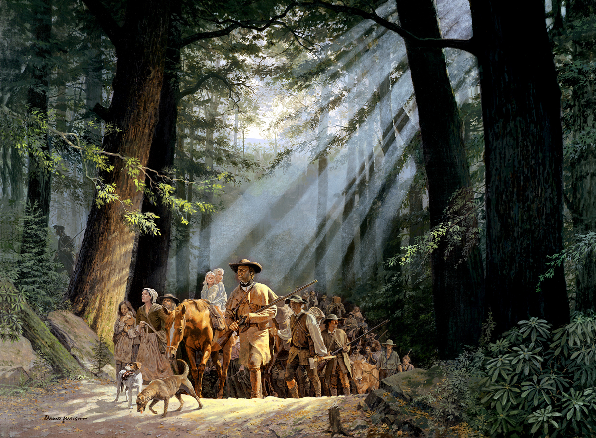 In 1750, Dr. Thomas Walker, an English naturalist and scientist, led a small party of explorers to the Gap after hearing Native American descriptions of the pathway through, rather than over the mountains. In 1769, Daniel Boone explored the area and in 1775 he blazed the 200-mile trail known as Boone's Path or Boone's Road. The trail, beginning at the Gap, passed through Virginia to Kentucky's Bluegrass Region.