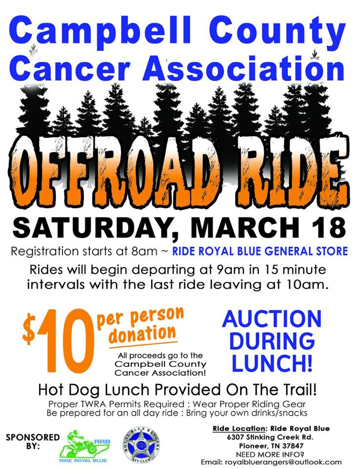 100% of the proceeds got to the cancer association! Rides will be staggered this year and will begin to leave at 9 am with the last one departing at 10am. Huge thanks to all who came out last year and hope you can make it again. Last year was our largest to date with over 160 people and nearly 90 machines! Help us make it bigger!