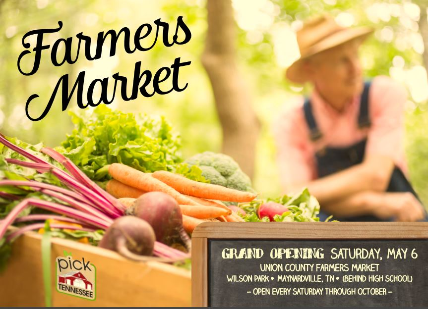 115 Wilson Lane Maynardville, Tennessee, TN 37807  (865) 992-8038  The Union County Farmers' Market provides a seasonal marketplace featuring vegetables, fruits, herbs, flowers, nursery plants, hand-made crafts and more.