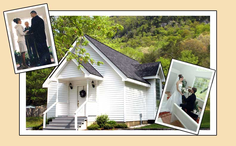 "Cumberland Gap Wedding Chapel    905 North Cumberland Drive, in Cumberland Gap  Cumberland Gap was once known as ""The Wedding Place"" of the Tri-State area.  Passenger trains arrived daily and over four thousand couples were married in this little historic town.  The tradition now continues... with the Cumberland Gap Wedding Chapel.  Located in a charming quaint chapel, at 905 North Cumberland Drive, in Cumberland Gap.  Make your wedding a day to remember by having your ceremony performed in the historic town of Cumberland Gap.  We offer complete wedding packages, so call for details.  423-869-5562, or  e-mail cumberlandgapweddingchapel@outlook.com.   http://www.cumberlandgapweddingchapel.com/"
